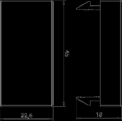 Схема Заглушка, ширина 1/2 модуля — арт.: 6117414
