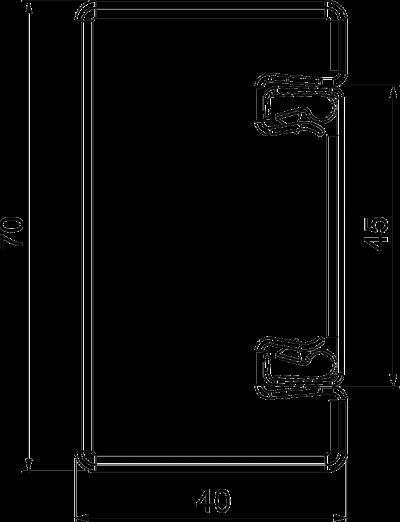 Схема Огнестойкий металлический кабельный канал, класс огнестойкости от I30 до I120 — арт.: 7216500