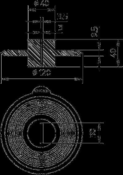 Схема Уплотнительная манжета для плоских проводников — арт.: 2360043