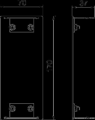 Схема Алюминиевая торцевая заглушка — арт.: 6279473