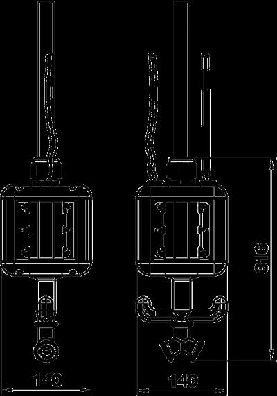 Схема Блок питания VH-4, пустой, с соединением для пневматического рукава — арт.: 6109810