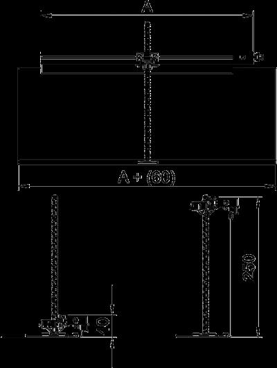 Схема Комплект для углового ответвления кабельного канала направо, высота 40 — 240 мм — арт.: 7423980