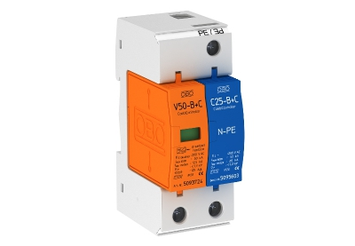 Молниезащитный разрядник и устройство защиты от перенапряжений, 1-полюсный + NPE — арт.: 5093653
