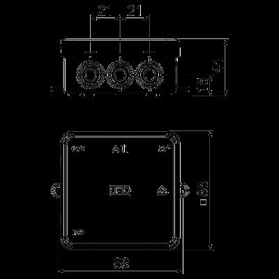 Схема Распределительная коробка А11 — арт.: 2000342
