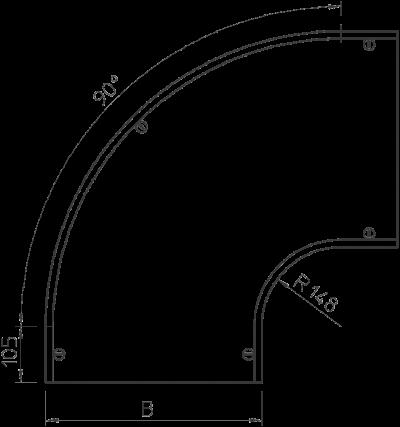 Схема Крышка угловой секции 90° 400-600 мм — арт.: 7129688