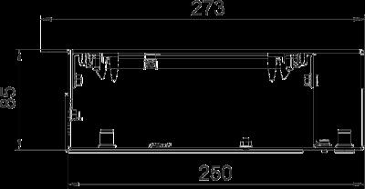 Схема Секция кабельного канала с глухой крышкой, без регулируемых опор — арт.: 7403818