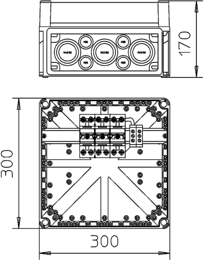 Схема Корпус VG с разрядником MC 50-B/3 — арт.: 5096874