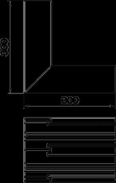 Схема Внутренний угол для кабельного короба высотой 90 мм — арт.: 6279643