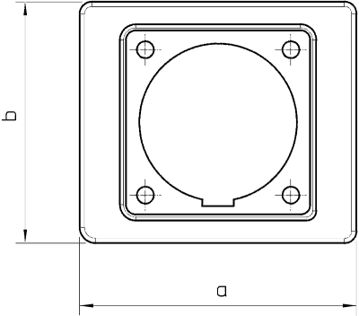 Схема Промежуточный фланец CEE 32 А — арт.: 6024033