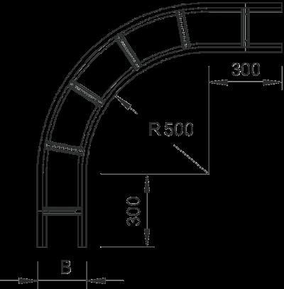 Схема Угловая секция 90° — арт.: 6229336