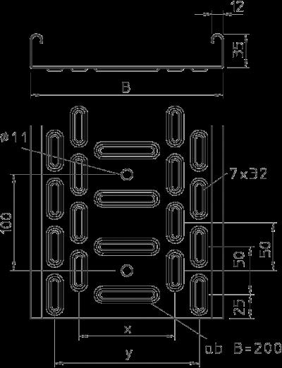 Схема Листовой кабельный лоток RKS — арт.: 6047408
