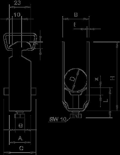 Схема Зажимная скоба BBS — арт.: 1183206
