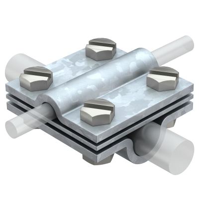 Крестовой соединитель для круглых проводников Rd 8-10 * Rd 16, с промежуточной пластиной — арт.: 5312345