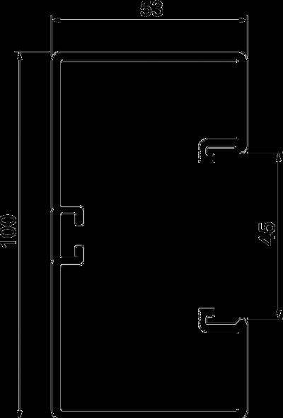 Схема Пластиковый кабельный короб Rapid 45-2, GK-53100 — арт.: 6113000