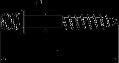 Схема Резьбовой дюбель М8 — арт.: 3133230