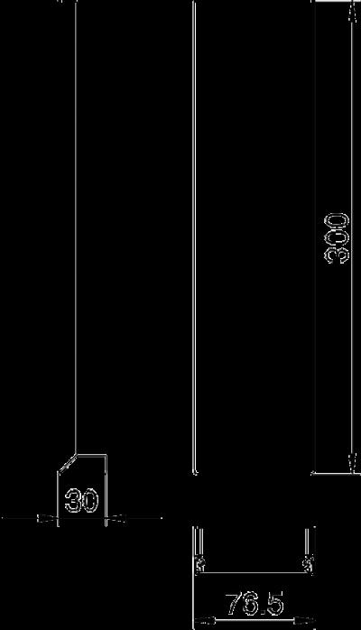 Схема Стальная крышка внешнего угла с системным отверстием 80 мм — арт.: 6279870