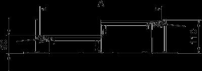 Схема Секция кабельного канала с крышкой для лючка GES6, высота 60 — 110 мм — арт.: 7424662