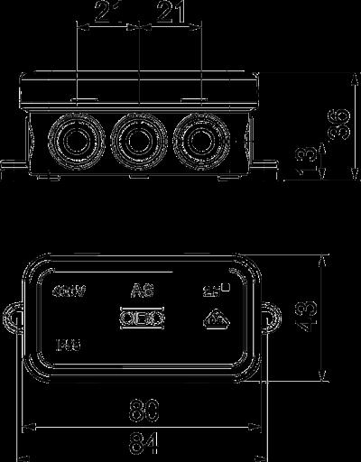 Схема Распределительная коробка А6 — арт.: 2000001