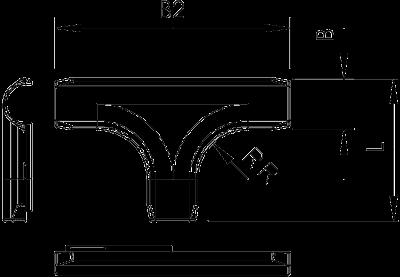 Схема Т-образная секция Quick-Pipe — арт.: 2153872