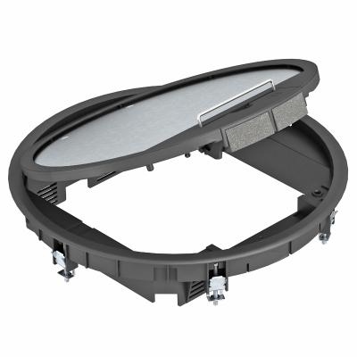 Круглый лючок GESR9 с защитной рамкой для напольного покрытия в откидной крышке — арт.: 7405512