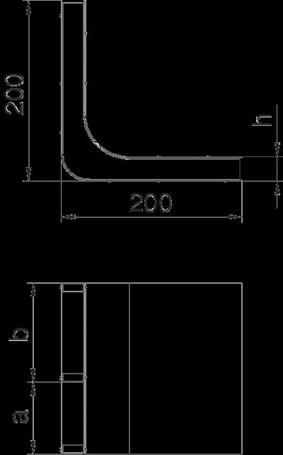 Схема Вертикальный угол 2-секционный — арт.: 7400620