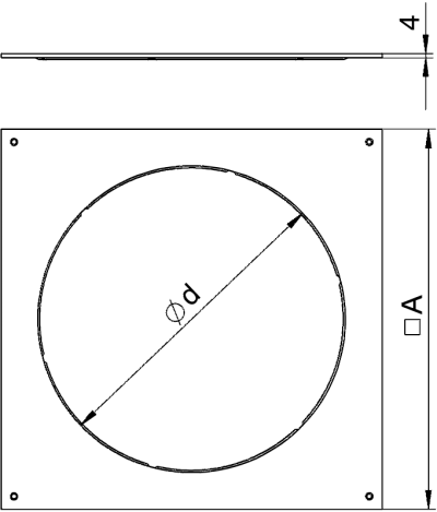 Схема Крышка монтажного основания 350-3 с отверстием для лючка GESR7 — арт.: 7400533
