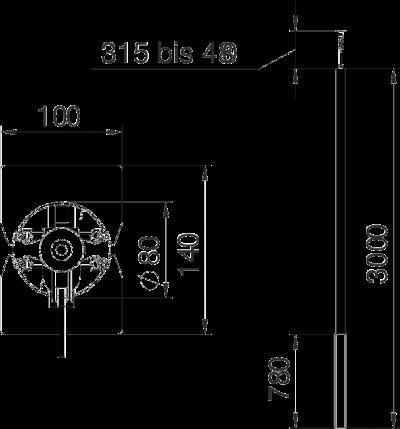 Схема Алюминиевая электромонтажная колонна ISS140100R — арт.: 6289073