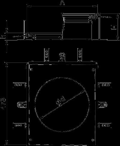 Схема Монтажная секция с крышкой для лючка GESR9, высота 60 — 110 мм — арт.: 7424906