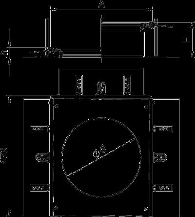 Схема Монтажная секция с крышкой для лючка GESR9, высота 40 — 240 мм — арт.: 7424346