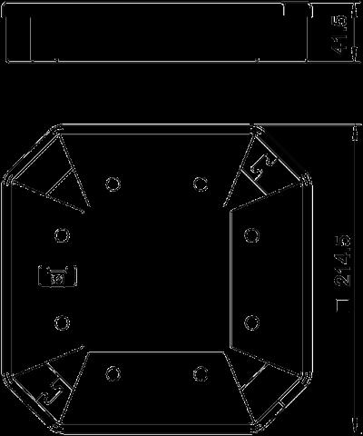 Схема Защитная рамка для электромонтажной колонны ISSHS4 — арт.: 6286810