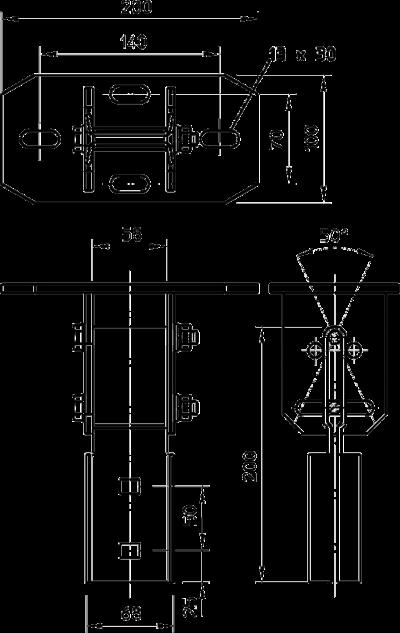 Схема Траверса регулируемая, поперечная — арт.: 6347843