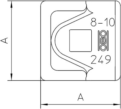 Схема Клемма для уравнивания потенциалов, для проводников Rd 8-10 — арт.: 5311503