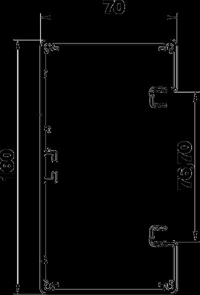 Схема Алюминиевый кабельный короб Rapid 80 высотой 70 мм — арт.: 6279303