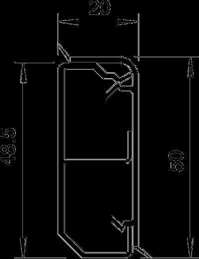 Схема Плинтусный кабельный короб SKL 50 D — арт.: 6199103