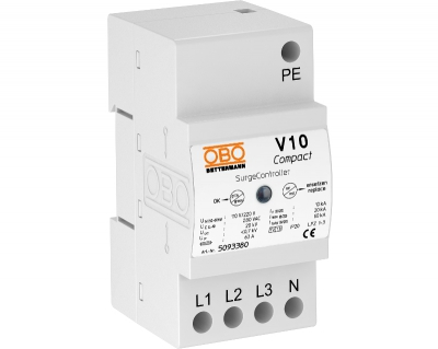 Разрядник для защиты от перенапряжений V10 Compact, 255 В — арт.: 5093380