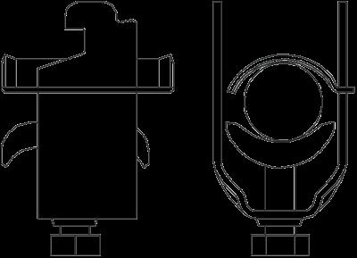 Схема Зажимная скоба для экранирующего подключения — арт.: 1167006