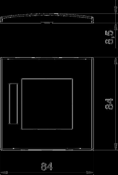 Схема Рамка AR45 одинарная, с полем для надписи, для горизонтальной установки устройств — арт.: 6119332