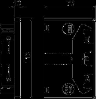 Схема Пластиковая торцевая заглушка — арт.: 6274374