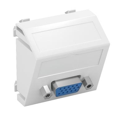 Мультимедийная рамка с разъемом VGA, ширина 1 модуль, с наклонным выводом, для винтового соединения — арт.: 6104622