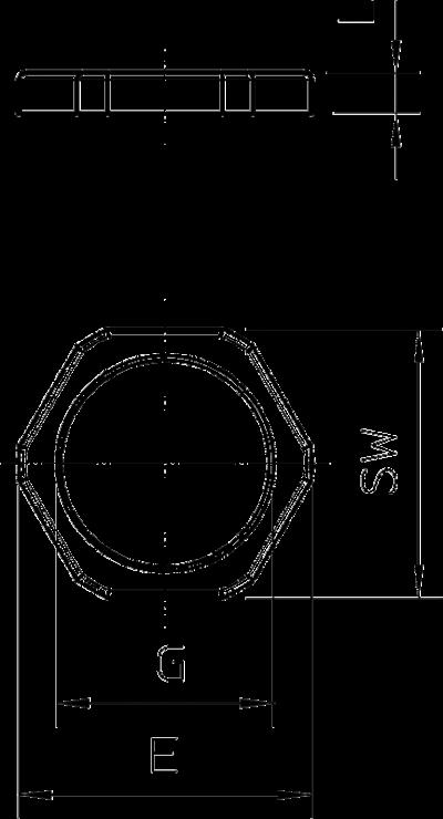 Схема Контргайка с из полиамида метрической резьбой — арт.: 2048752