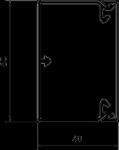 Схема Кабельный короб WDKH 40060 — арт.: 6175410
