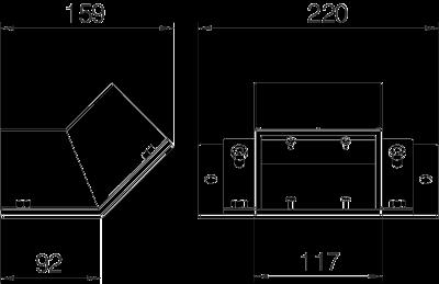Схема Вертикальная угловая секция 45° восходящая — арт.: 7216350