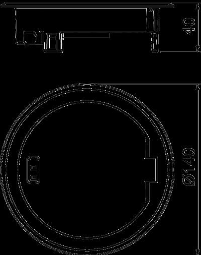 Схема Лючок GES R2 с ручкой, из литого цинка, с латунным покрытием — арт.: 7408852