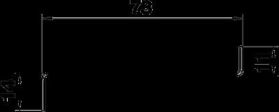 Схема Стальная разделительная перегородка для кабельного короба высотой 90 мм — арт.: 6277095