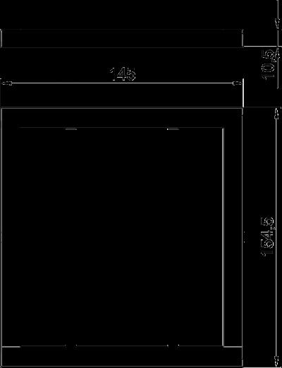 Схема Декоративная рамка Modalnet для монтажа в полую стену, для 2х двойных розеток — арт.: 6109934