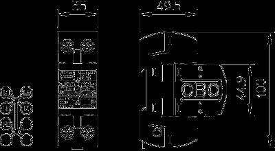 Схема Комбинированный разрядник 1-полюсный, с индикацией функций — арт.: 5096852