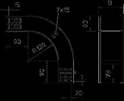 Схема Вертикальная угловая секция 90° нисходящая — арт.: 7007051