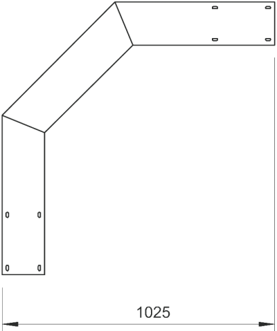 Схема Вертикальная угловая секция 90°, нисходящая — арт.: 6230725