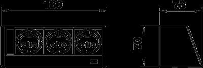 Схема Настольный бокс DB без крепления, с 3 розетками — арт.: 6116939