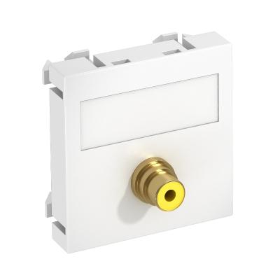 Мультимедийная рамка с разъемом Video-Cinch, ширина 1 модуль, с прямым выводом, для соединения пайкой — арт.: 6104970